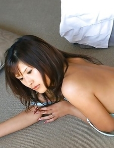 Sara Tsukigami undresses and sits in naughty positions