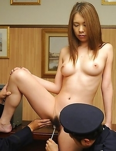 Babe gets used by horny guards
