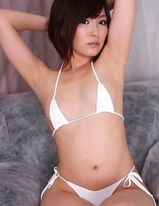 Kaede Oshiro has hairy twat and hot jugs in tiny lingerie