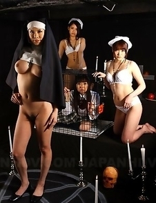 Black magic ward ladies showing off